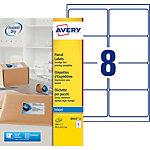 Étiquettes d'adresses AVERY Zweckform Quick DRY Blanc 200 étiquettes 25