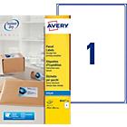 Étiquettes d'adresses AVERY Zweckform Quick DRY Blanc 199,6 x 289,1 mm 25 Feuilles de 8 Étiquettes