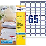 Mini étiquettes AVERY Zweckform J8651 25 Blanc 1625 étiquettes 1625 étiquettes
