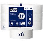 Papier toilette Tork Maxi Jumbo T1 2 épaisseurs   6 Rouleaux de 19000 Feuilles