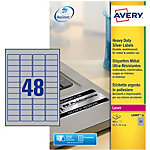 Étiquettes multifonctions AVERY Zweckform L6009 20 Métallisé 21,1 x 45,7 mm 48 Feuilles de 20 Étiquettes