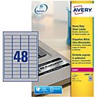 Étiquettes multifonctions AVERY Zweckform L6009 20 A4 Métallisé 45,7 x 21,1 mm 20 Feuilles de 48 Étiquettes