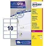 Étiquettes d'adresses AVERY Zweckform QuickPEEL A4 Blanc 99,1 x 57 mm 100 Feuilles de 10 Étiquettes