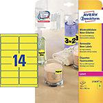Étiquettes Avery L7263Y Jaune fluo 38,1 x 99,1 mm 14 Feuilles de 25 Étiquettes