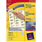 Étiquettes Avery L7562 25 Transparent 33,9 x 99,1 mm 16 Feuilles de 25 Étiquettes