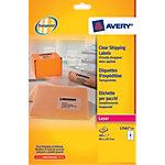 Étiquettes d'adresses AVERY Zweckform L7565 25 Transparent 99,1 x 67,7 mm 25 Feuilles de 8 Étiquettes