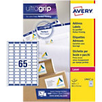 Étiquettes d'adresses AVERY Zweckform L7651 25 A4 Blanc 38,1 x 21,2 mm 25 Feuilles de 65 Étiquettes