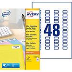 Étiquettes Avery L7653 25 Blanc 1200 étiquettes 25 feuilles