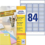 Étiquettes d'adresses AVERY Zweckform L7656 25 Blanc 46 x 11,1 mm 84 Feuilles de 25 Étiquettes
