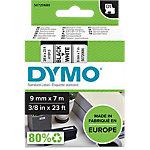 Ruban d'étiquettes DYMO D1 9mm (L) x 7m (l) Noir, blanc