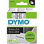 Ruban d'étiquettes DYMO D1 45013 12mm (L) x 7m (l) Noir, blanc