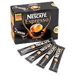 Sticks de café Caféiné Nescafé Espresso Expresso   25 Unités de 45 g