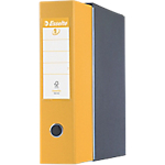 Registratore Esselte Eurofile Eurofile 80 mm polipropilene, cartone 2 anelli A4 giallo