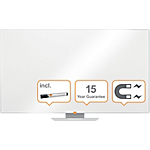 Lavagna bianca Nobo Widescreen acciaio magnetico 156 x 88 cm