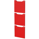 Ante per libreria Artexport Easy Cube Rosso 3 unità