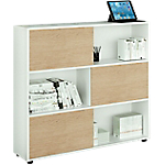 Libreria Artexport Tetris Bianco, rovere 350 x 1.160 mm