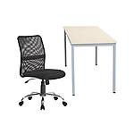 Set scrivania e sedia Niceday Easy go Faggio