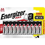 Pile alcaline Energizer Max AA 20 unità