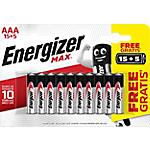 Pile alcaline Energizer Max AAA 20 unità
