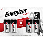 Pile alcaline Energizer Max C, 4 unità