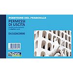 Blocco permessi di uscita Data Ufficio Bianco rigato non perforato 16,8 x 10 cm carta