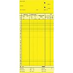 Schede orologio mensili Data Ufficio Giallo rigato non perforato 22,5 x 10,4 cm carta 100 unità