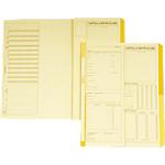 Cartelle matricolari dipendenti Data Ufficio Giallo rigato non perforato 32,5 x 25,5 cm carta 50 unità