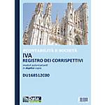 Registri corrispettivi iva Data Ufficio Bianco rigato non perforato 21,5 x 29,7 cm carta