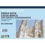Prima nota cassa e cassa banca Data Ufficio Bianco rigato perforato 29,7 x 21,5 cm carta