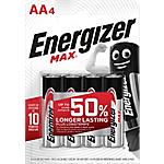 Pile alcaline Energizer MAX AA 4 unità