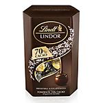 Scatola regalo cioccolato Lindt Cornet Fondente 70% Cacao 200 g