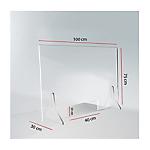 Schermo parafiato plexiglass 100 x 75 cm