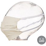 Mascherina faciale lavabile Ecofibra antigoccia naturale