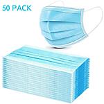 Mascherina chirurgica filtrante 98% a 3 veli tipo IIR con elastici azzurra 50 unità