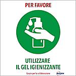 Etichette adesive prestampate speciale COVID Avery Utilizzare il gel igienizzante A4 bianco, verde 210 x 297 mm 2 unità