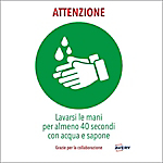 Etichette adesive prestampate speciale COVID Avery Lavarsi le mani A4 bianco, verde 210 x 297 mm 2 unità