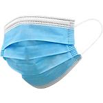 Mascherina chirurgica filtrante 98% 3 veli tipo II con elastici colore azzurro 10 unità
