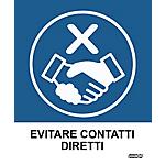 Etichette Markin Evitare contatti diretti 152,5 x 125 mm 2 unità