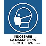Etichette Markin Indossare la mascherina 152,5 x 125 mm 2 unità