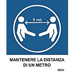 Etichette Markin Mantenere la distanza di 1 metro 152,5 x 125 mm 2 unità