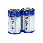 Batterie alcaline Verbatim D LR20 Mono 1.5V 2 unità