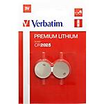 Batterie a bottone Verbatim CR2025 3V 2 unità