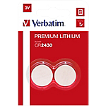 Batterie a bottone Verbatim CR2430 3V 2 unità