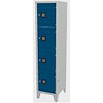 Armadio casellario 4 posti Blu chiaro 420 x 500 x 1.800 mm