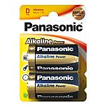 Batterie alcaline Panasonic LR20 D 2 unità