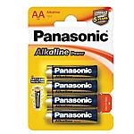 Batterie alcaline Panasonic LR6 AA 4 unità