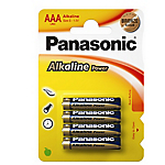 Batterie alcaline Panasonic AAA 4 unità