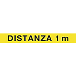 Etichetta autoadesiva per pavimento Cartelli Segnalatori distanza 1 m 15 x 120 cm