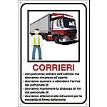 Cartello segnalatore Corrieri 20 x 30 cm