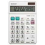 Calcolatrice da tavolo Sharp EL 331W 10 cifre bianco